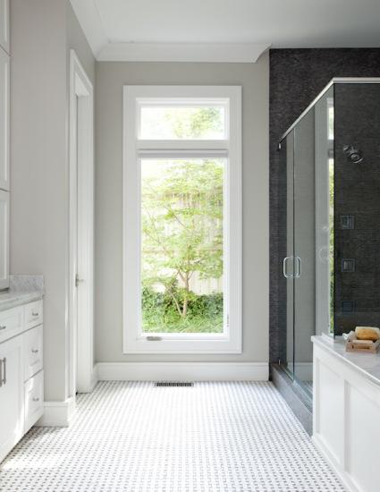 bathroom in Sherwin Williams Repose Gray