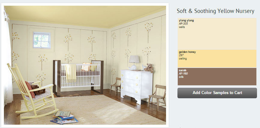 7 Inspiring Kid Room Color Options For Your Little Ones: Baby's Nursery In Creamy Yellow And Neutrals