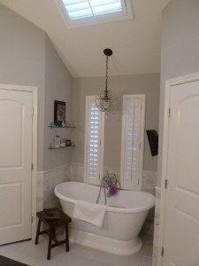 Master Bath Remodel in Sherwin Williams Repose Gray