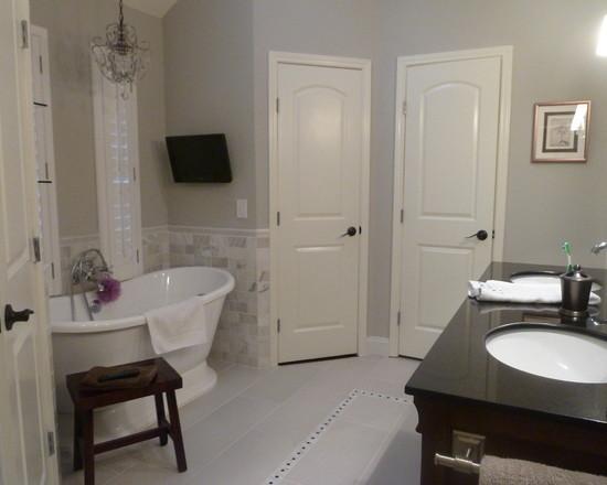 Master Bath Remodel In Sherwin Williams Repose Gray Interiors By Color