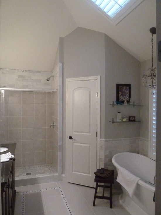 White And Grey Shower Rooms