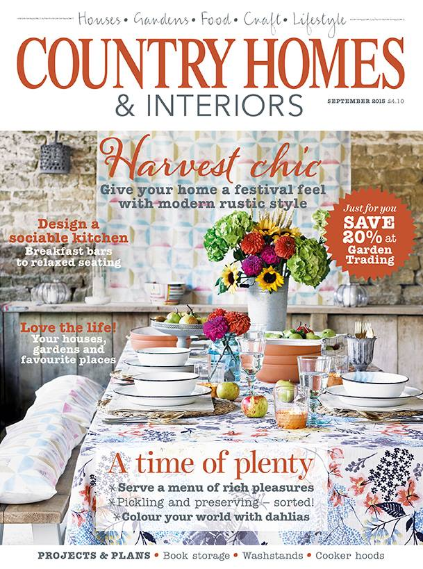 Country Homes & Interiors Magazine September 2015 Cover