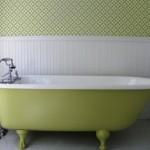 Green Vintage Style Bathroom