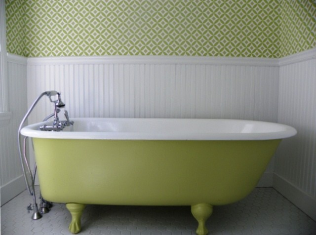 Green Vintage Style Bathroom