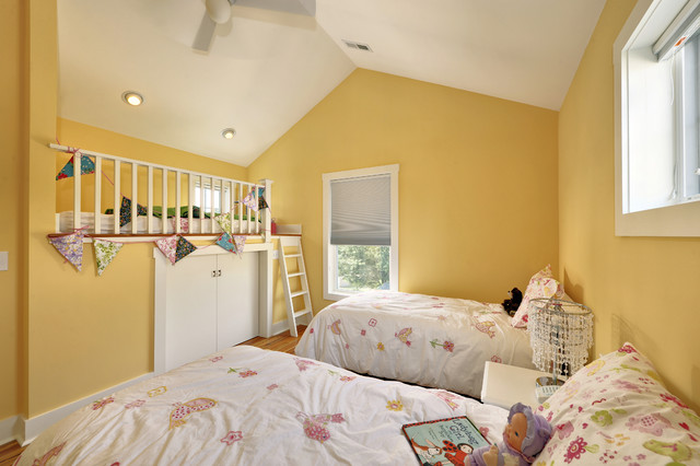 Kids Bedroom With Secret Loft Bed