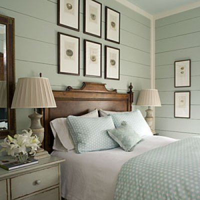 Painted Wood Walls Bedroom