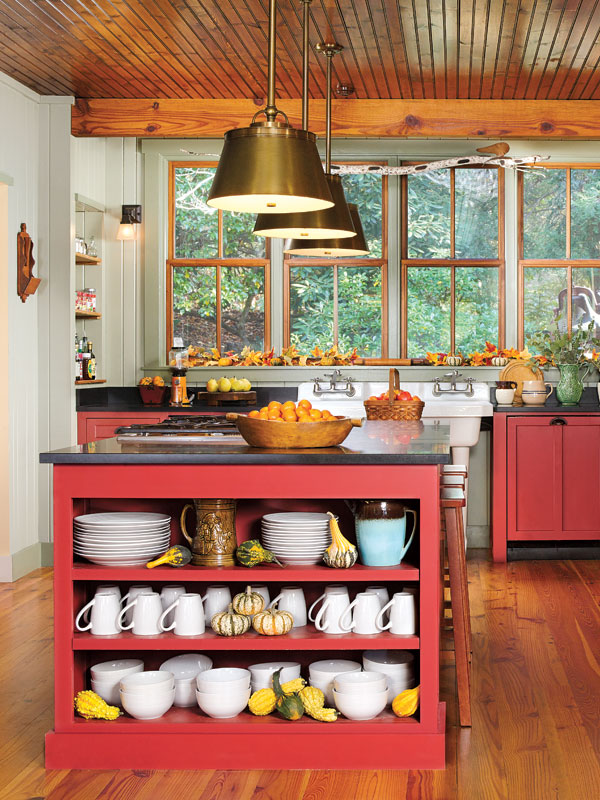 Cabinets Vintage Country Styled Kitchen
