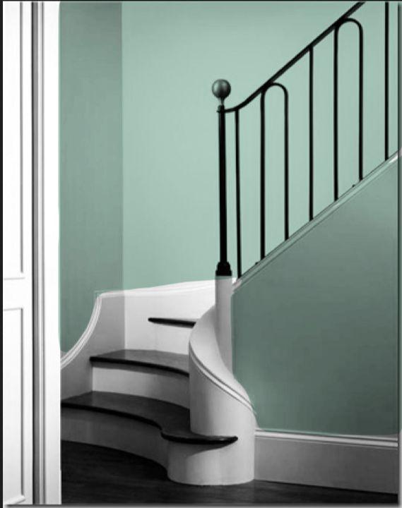 Sherwin Williams Aloe Staircase