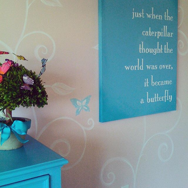 Sherwin Williams Charming Pink and Turquoise