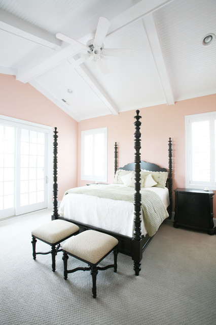 Mellow Coral Walls In The Master Bedroom Interiors By Color