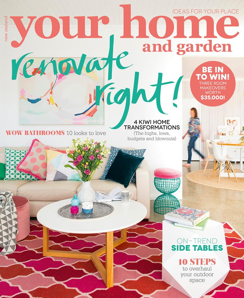 Your Home & Garden New Zealand September 2015 Cover