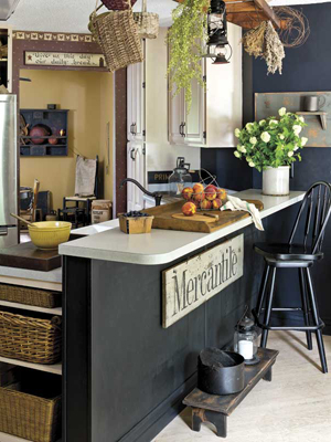 Black Painted Country Kitchen