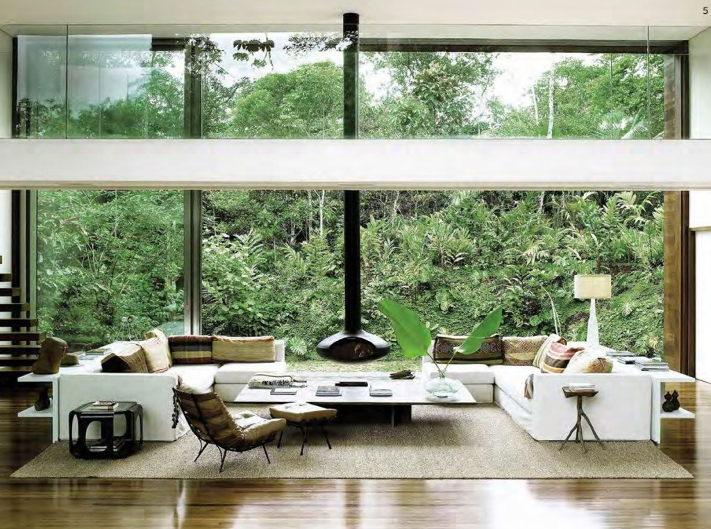 Double Height Windows and a Jungle View