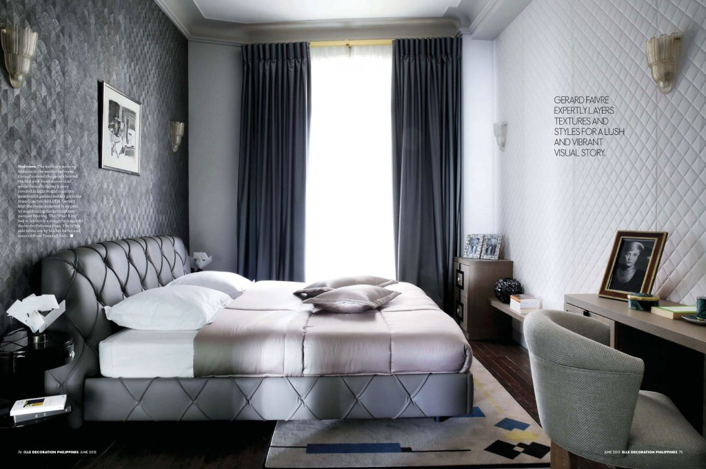 Gray Layered and Textured Master Bedroom