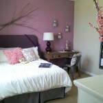 Bedroom in Thistle Purple and Agreeable Gray