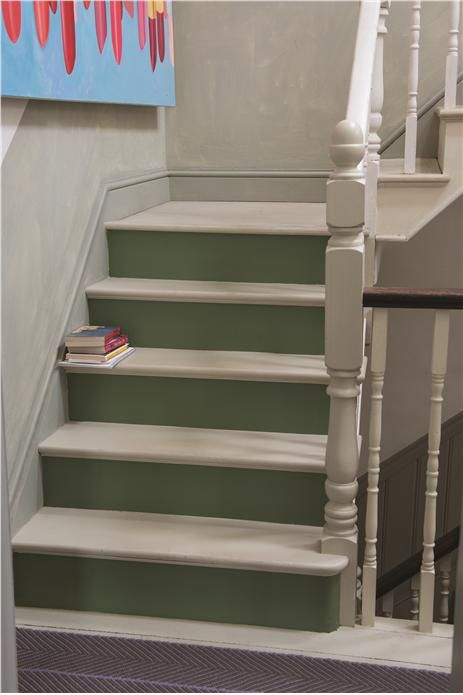 Calke Green Stairs Interiors By Color
