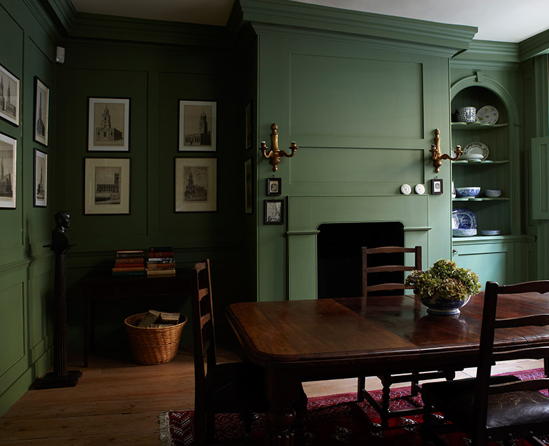 Georgian Decorating in Farrow & Ball Calke Green