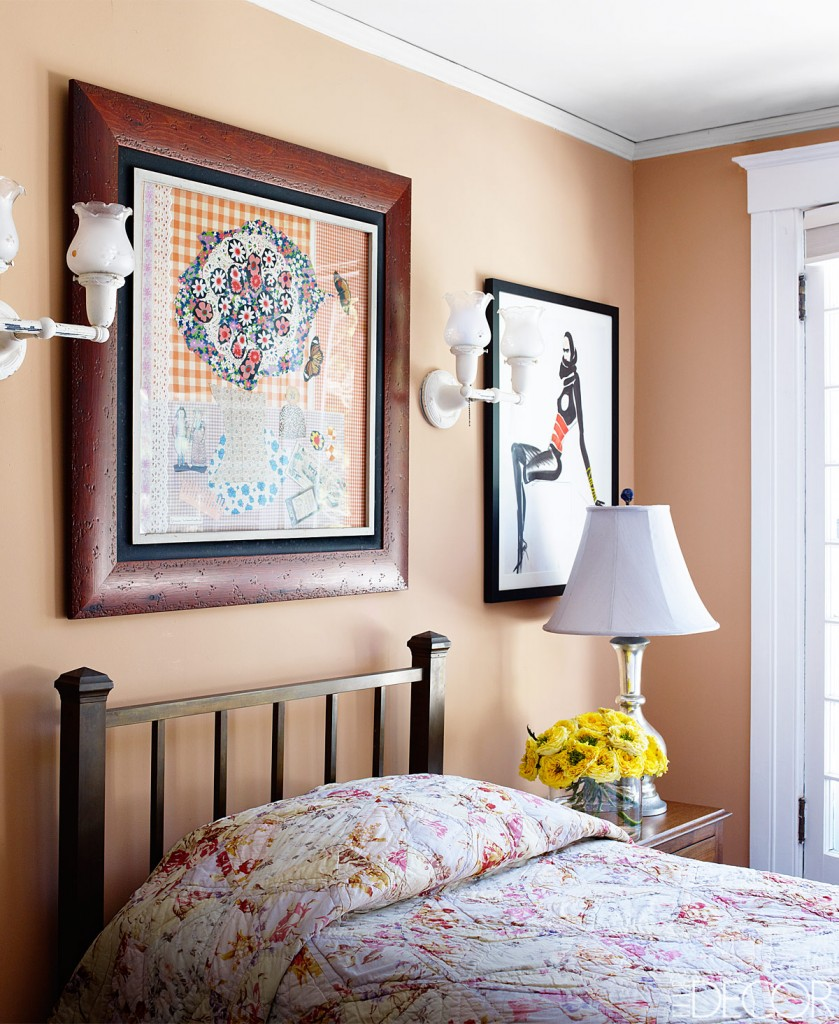 Bedroom Painted In Farrow & Ball's Dutch Pink