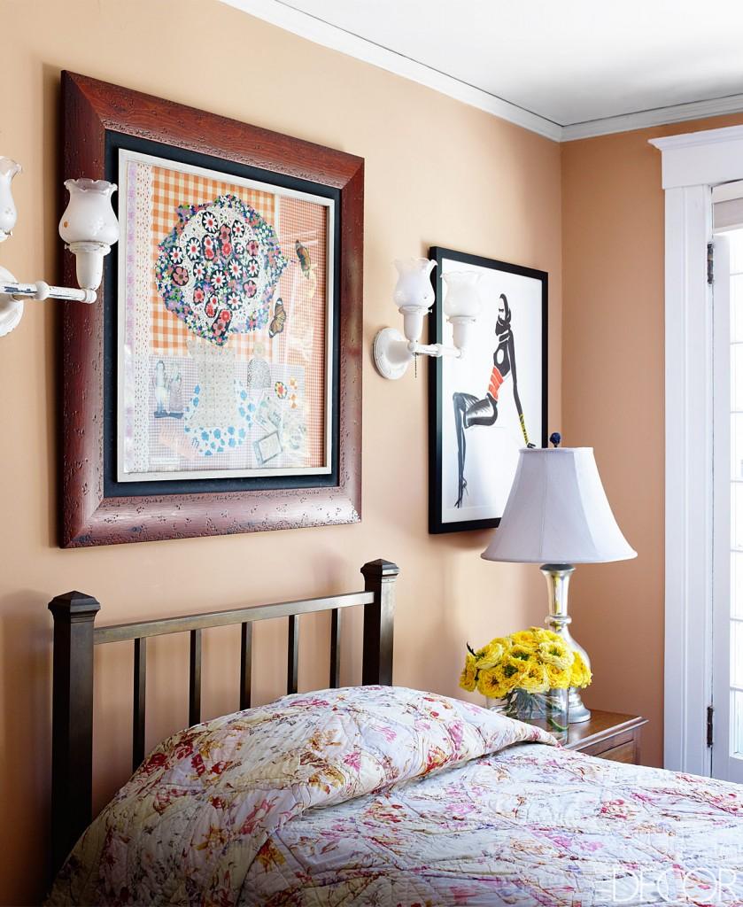 bedroom with beige walls