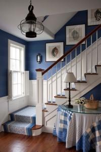Blue coastal themed entry