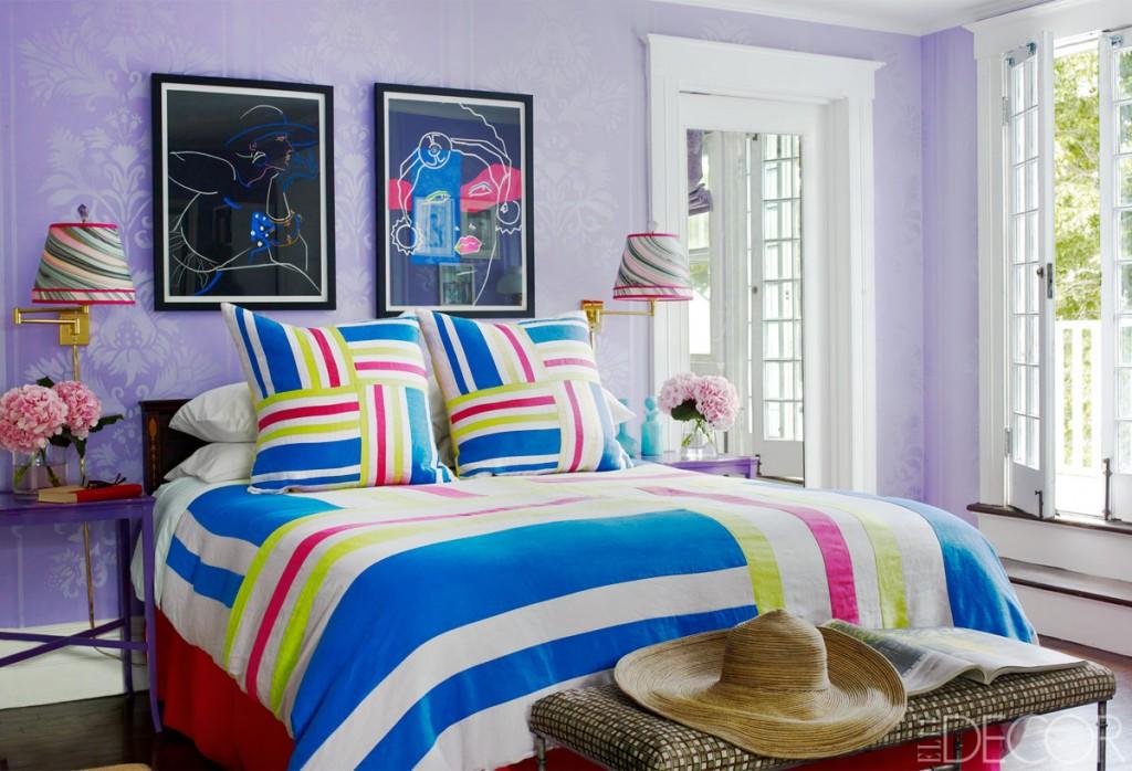 purple blue bedroom