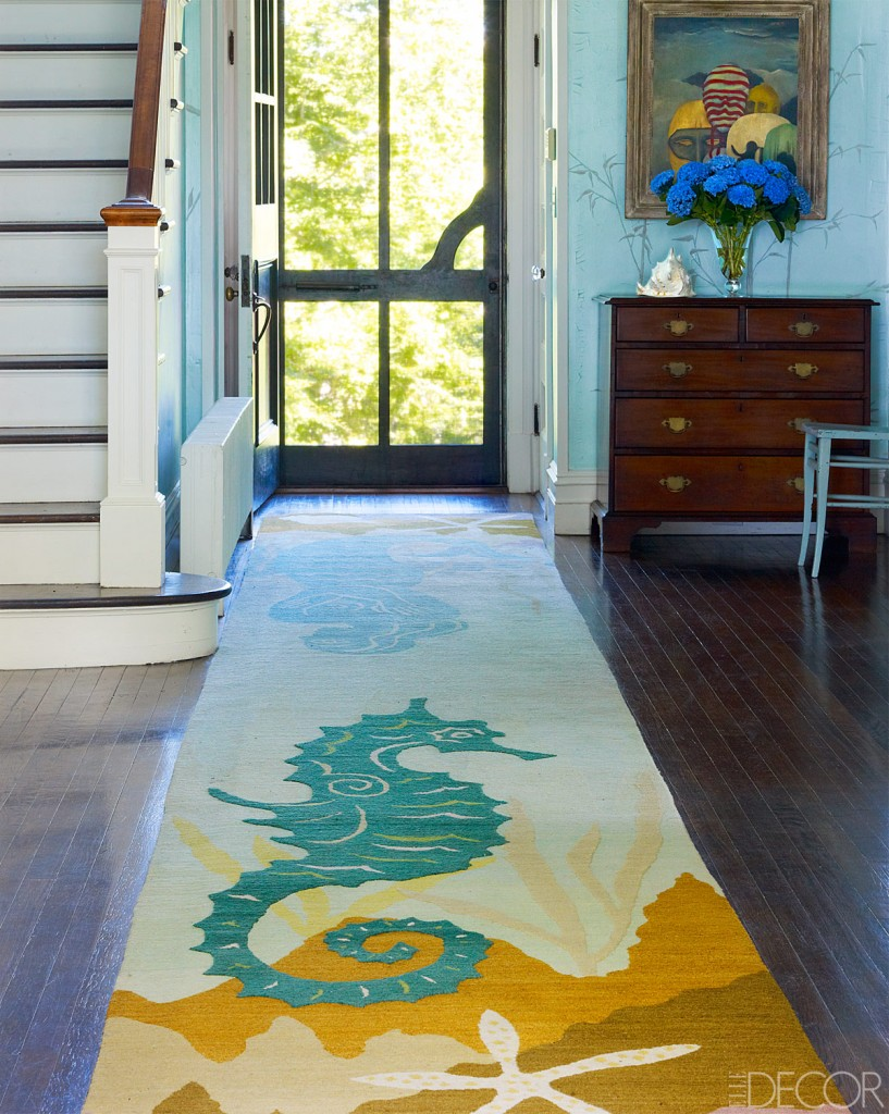 seahorse rug entrance hall
