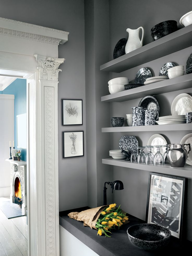 Gray Coat Open Kitchen Interiors By Color