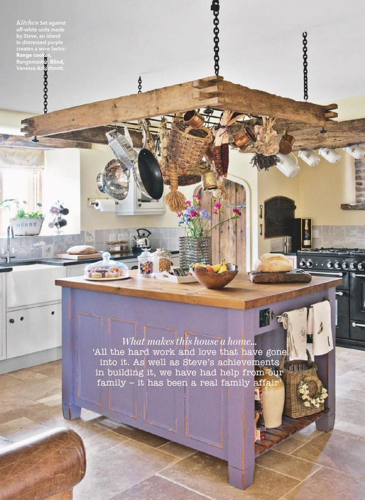 Purple Country Kitchen