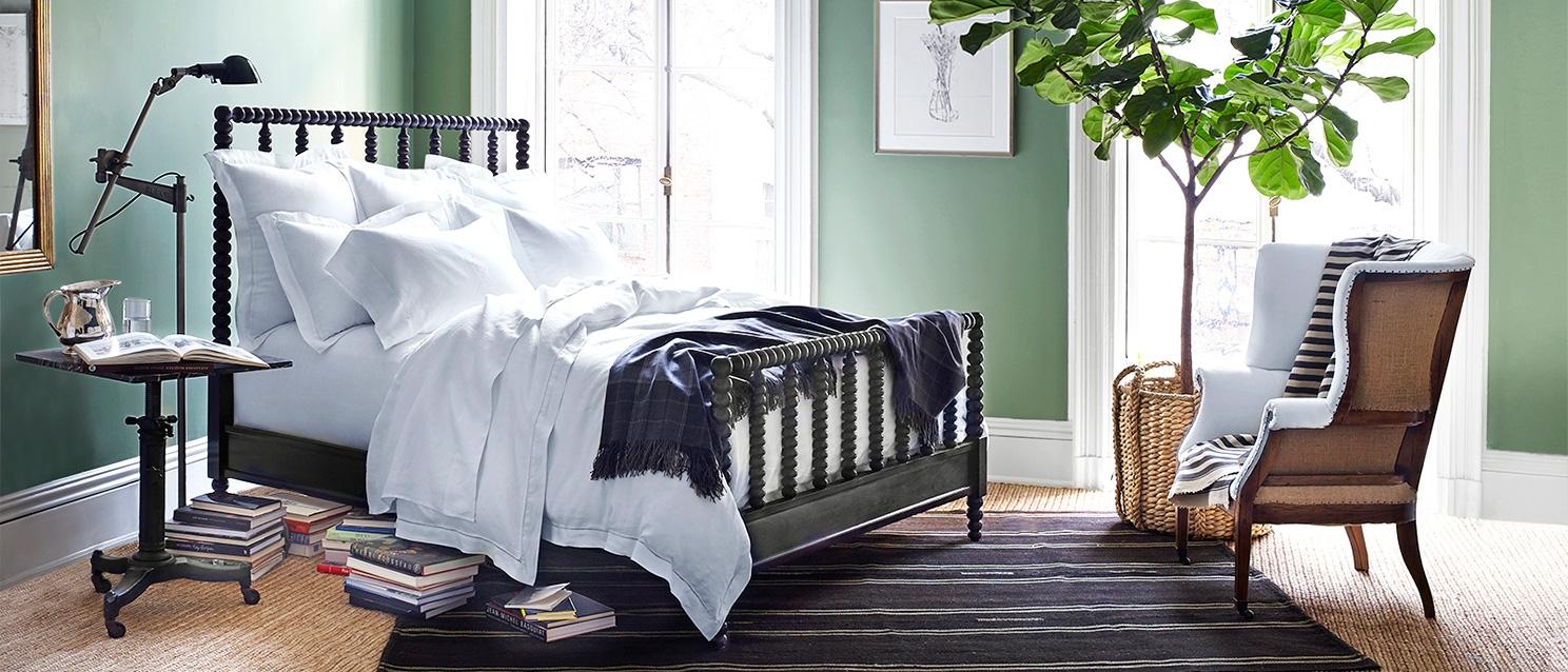 Ralph Lauren Volute Green Bedroom