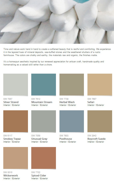 Sherwin Williams Honed Vitality Paint Color Collection