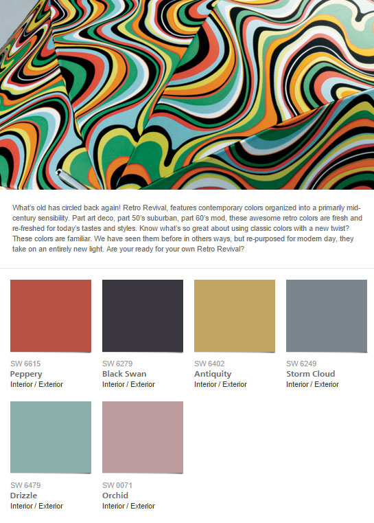 Sherwin Williams Retro Paint Collection