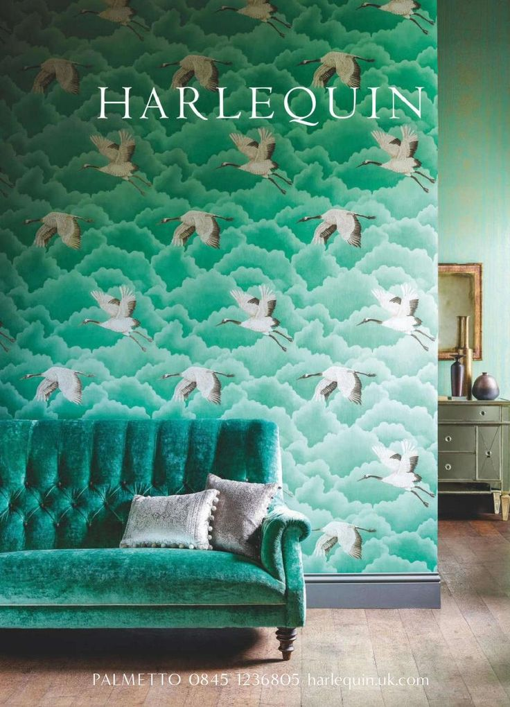 Green Harlequin Wallpaper