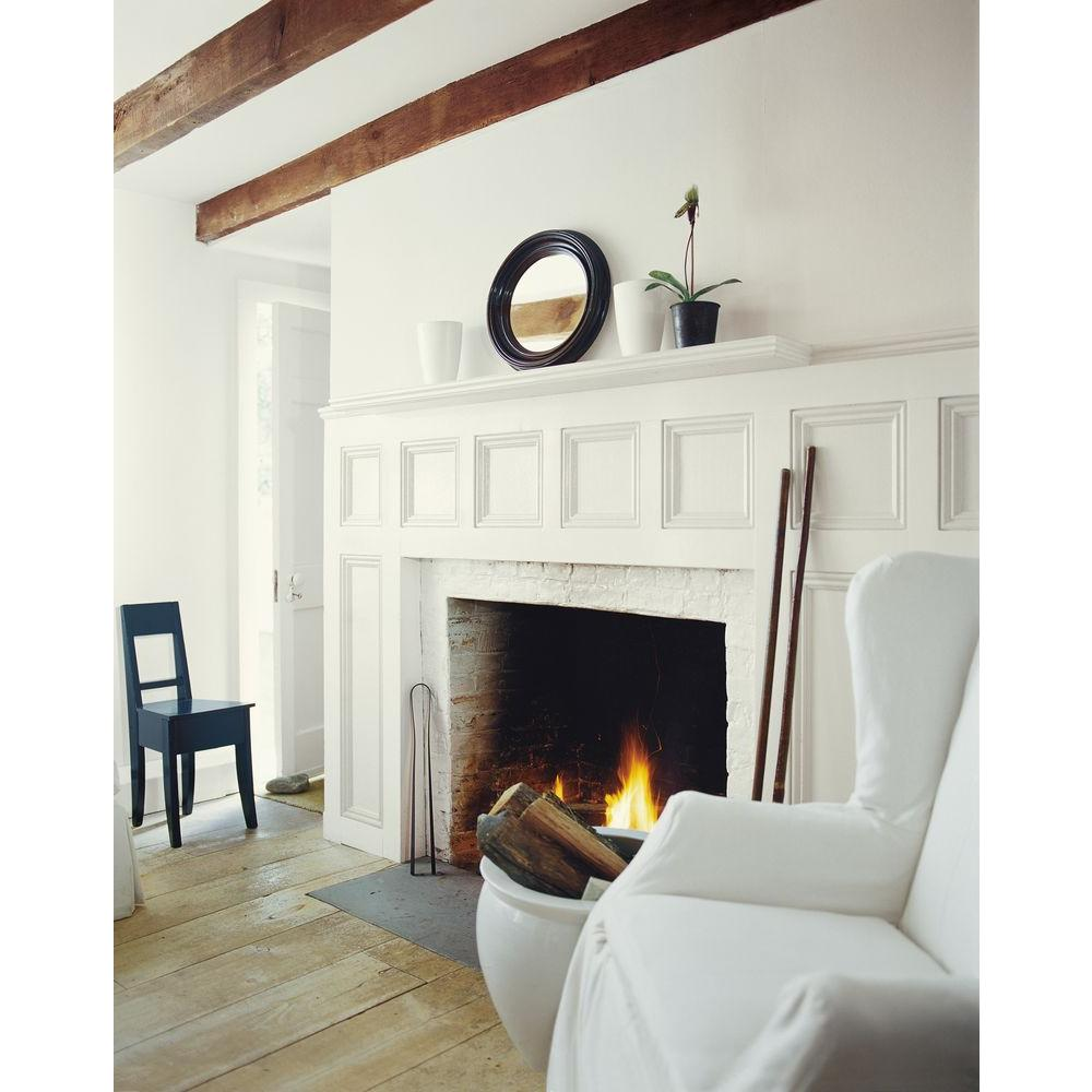 Tibetan Jasmine Walls and Fireplace - Interiors By Color