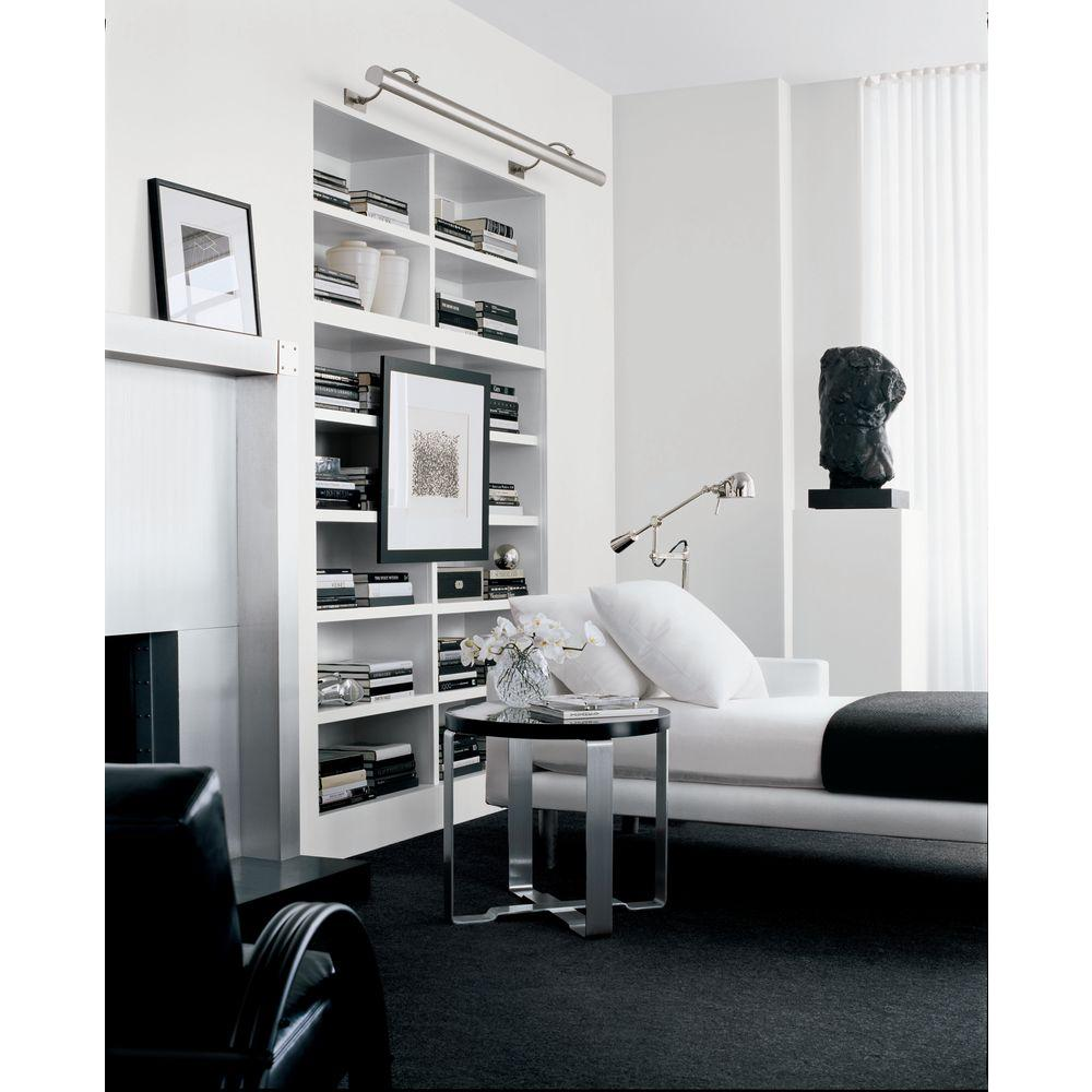 Modern White Office Painted In Ralph Lauren Box Pleat