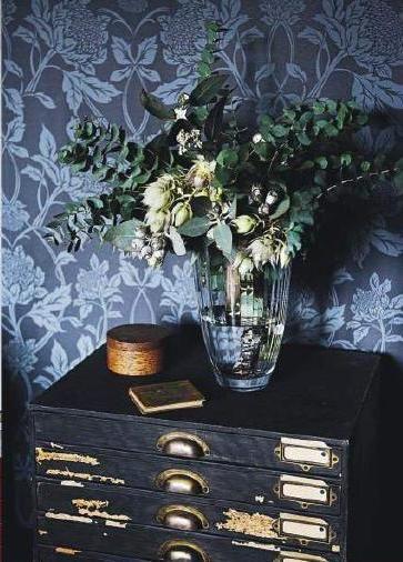 waratah blue wallpaper