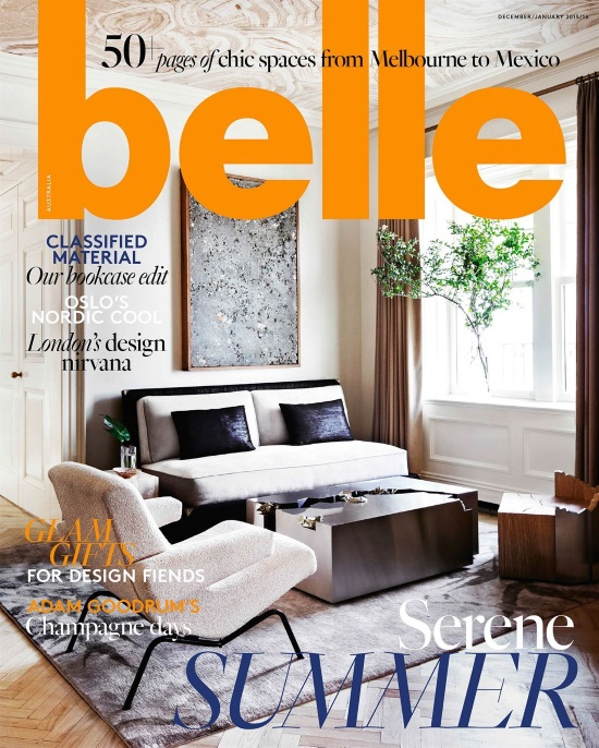 Belle December 2015 / January 2016 Cover