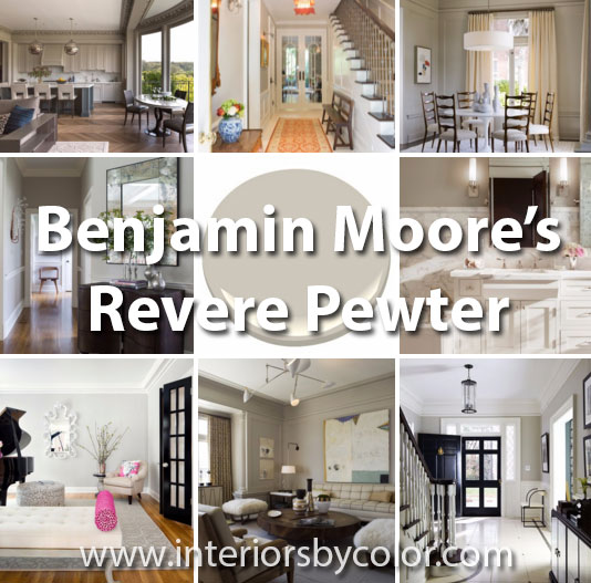 12 Rooms Painted in Benjamin Moore Revere Pewter