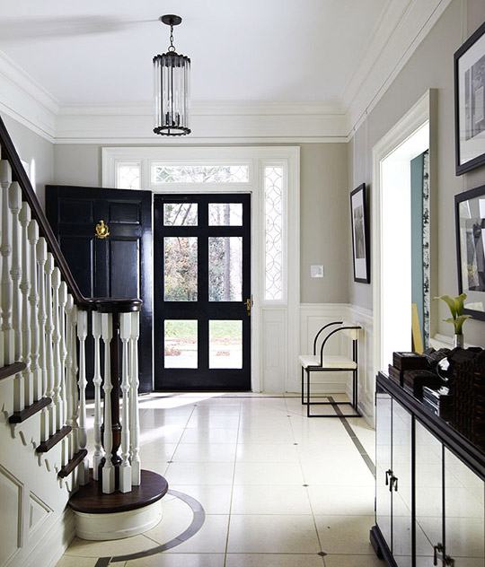 12 rooms painted in benjamin moore revere pewter for Www traditionalhome com