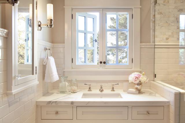 Revere Pewter and White Dove bathroom 1