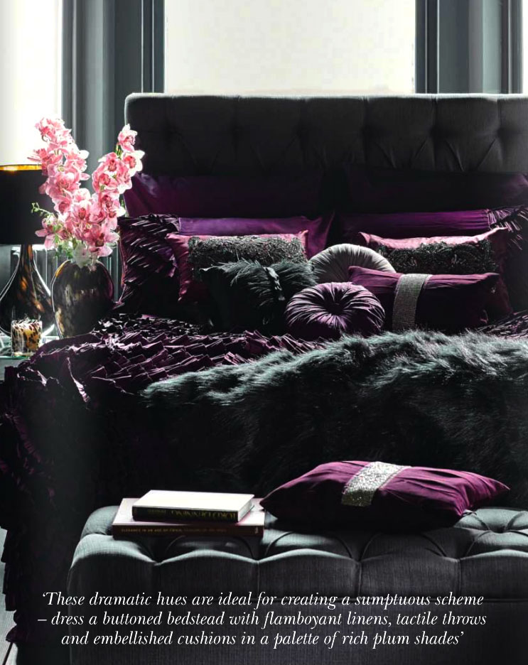 Rich Plum Shades Interiors By Color