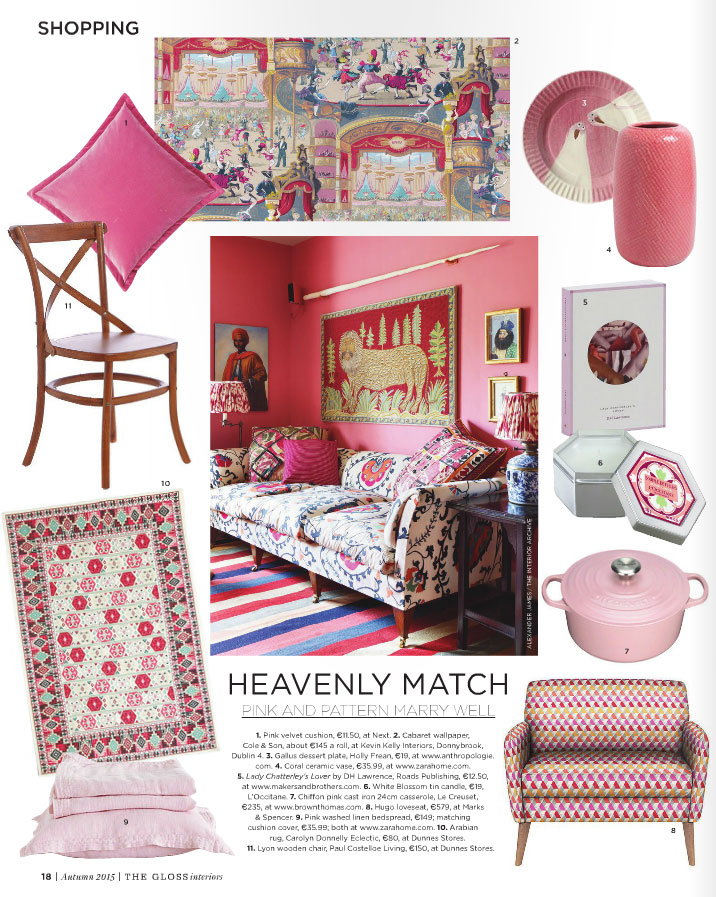 Interiors: Pink and Patterns Work Well Together