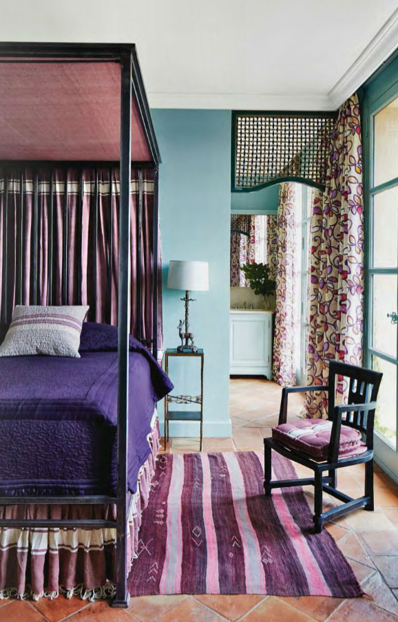 Purple Four Poster Bed