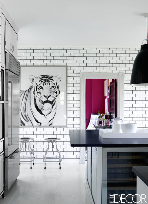 white subway tile dark grout in the kitchen interiors by color