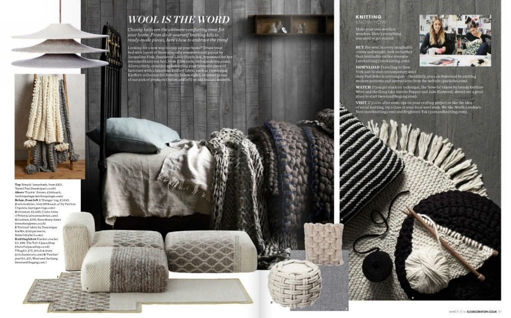 Decorating with Knits and Wool