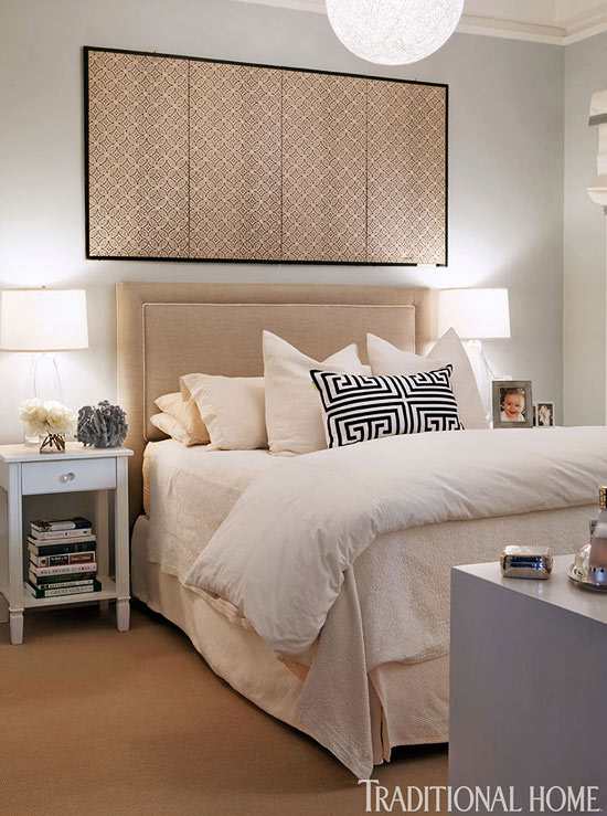Neutral Bedroom With Japanese Screen Interiors By Color