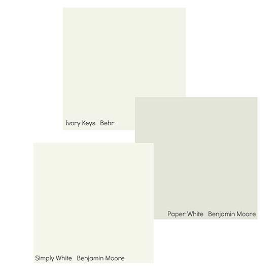 Along with Simply White and Alabaster, other white paint colors forecasted to popular in the coming year include Behr Ivory Keys and Benjamin Moore Paper White.