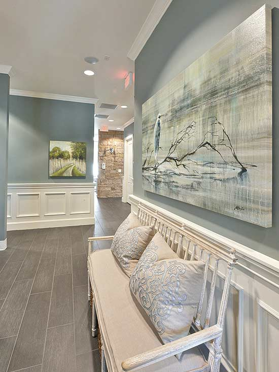 Interior Painted In Benjamin Moore Sea Pine Interiors By