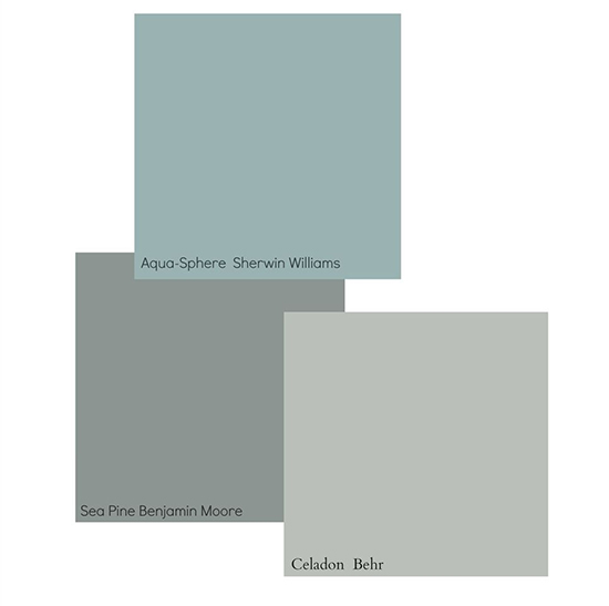 Sherwin Williams Aqua Sphere and Behr Celadon