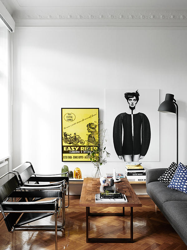 Black, White and Yellow Interior