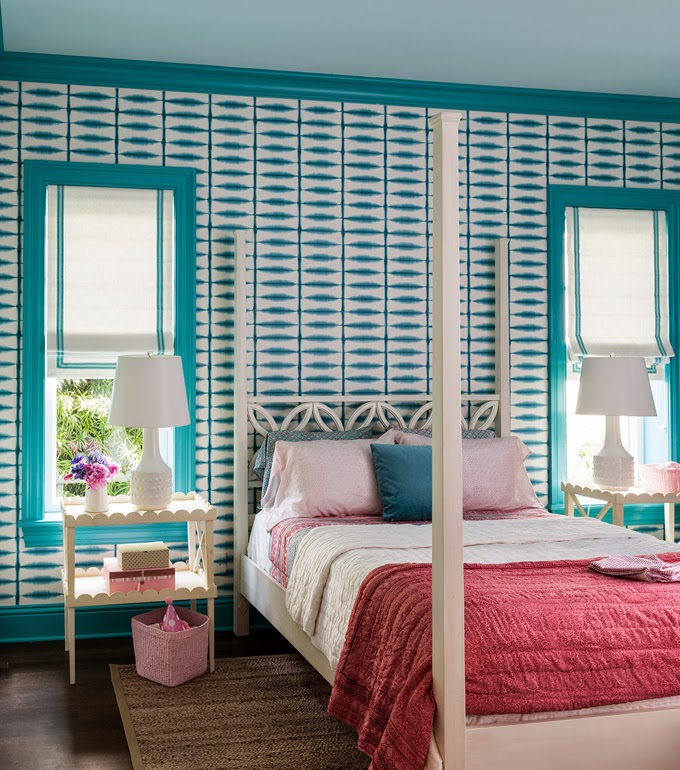 Turquoise, Red And Pink Bedrooms